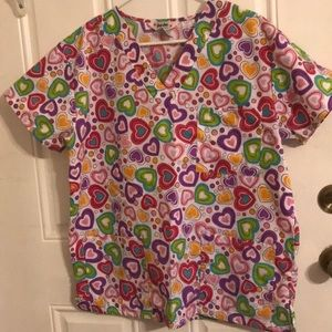 Heart Scrub Top